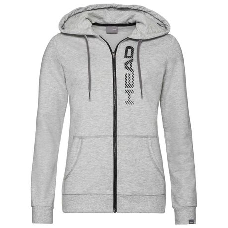 HEAD Club Greta Hoodie Full Zip Women Grey Melange/Black