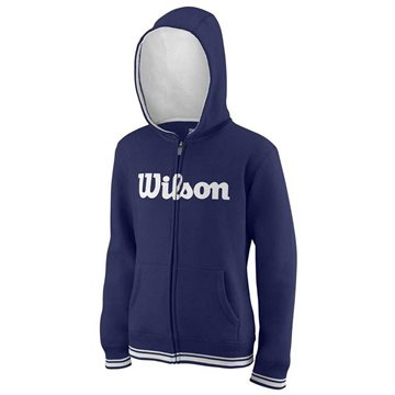 Produkt Wilson M Team Script FZ Hoody Blue Depths/White