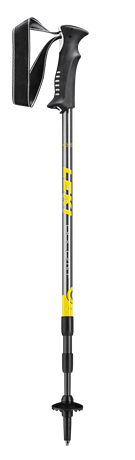 Leki Dolomit Lite gunmetal/yellow/white 100 - 135 cm 65028341 2020