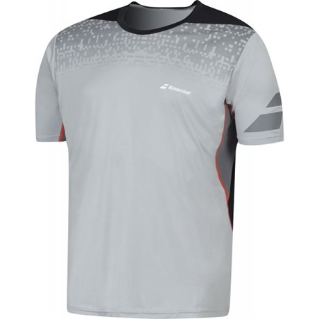 Babolat Crew Neck Tee Men Performance Grey 2016