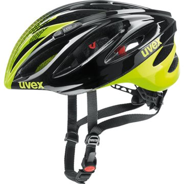 Produkt UVEX HELMA BOSS RACE, BLACK-NEON YELLOW 2018