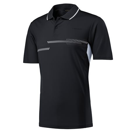 HEAD Club Technical Polo Shirt Men Black