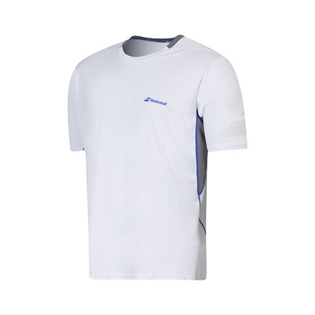 Babolat Crew Neck Tee Men Performance White