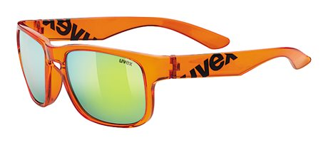 UVEX LGL 22, BLACK ORANGE BLACK/MIRROR YELLOW