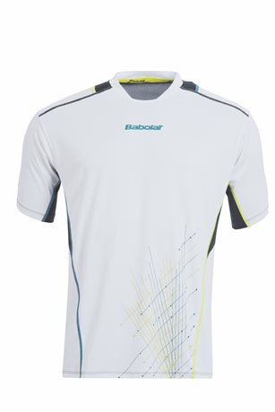 Babolat Tee-Shirt Men Match Performance White 2015
