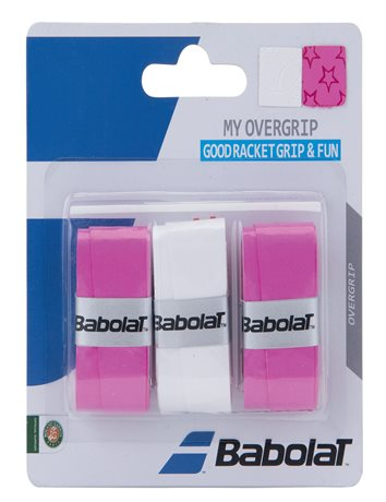 Babolat My Overgrip X3 Pink&White