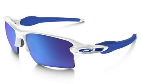 OAKLEY FLAK 2.0 XL XL POLISHED WHITE SAPPHIRE IRIDIUM