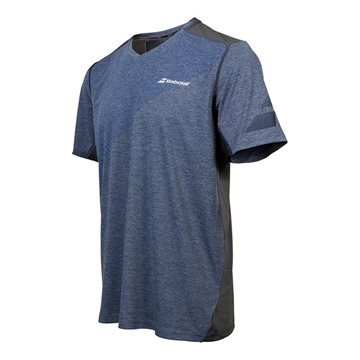 Produkt Babolat V-Neck Tee Men Performance Heather Blue