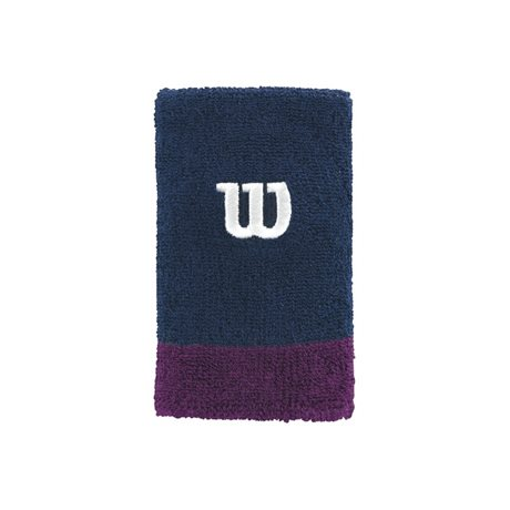 Wilson Extra Wide Wristband Navy-Purple