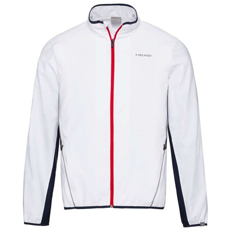 HEAD Club Jacket Men White/Dark Blue