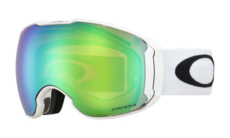 OAKLEY Airbrake XL Polished White w/PRIZM Snow Jade Iridium + PRIZM Snow Sapphire Iridium 19/20
