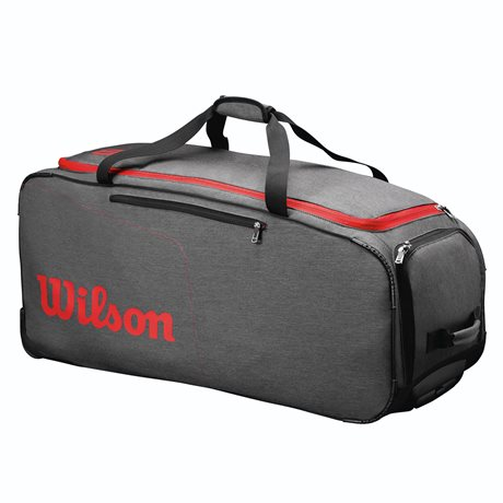 Wilson Traveler Wheeled Coach Duffel Grey/Red