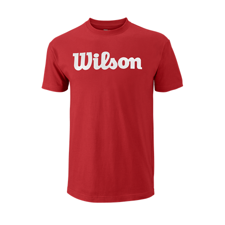 Wilson M Script Cotton Tee Red