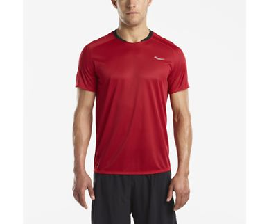 SAUCONY SHORT SLEEVE CHERRY RED