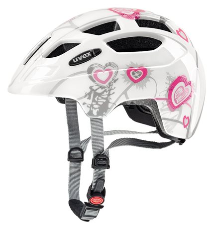 UVEX FINALE JUNIOR LED, HEART WHITE PINK 2019