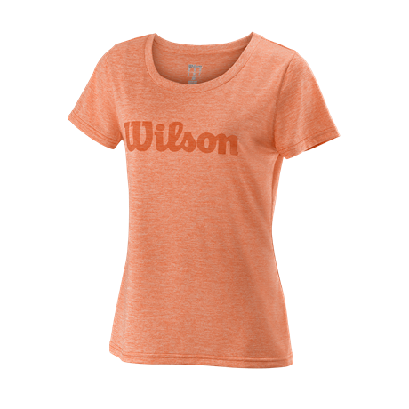 Wilson W UWII Script Tech Tee Orange