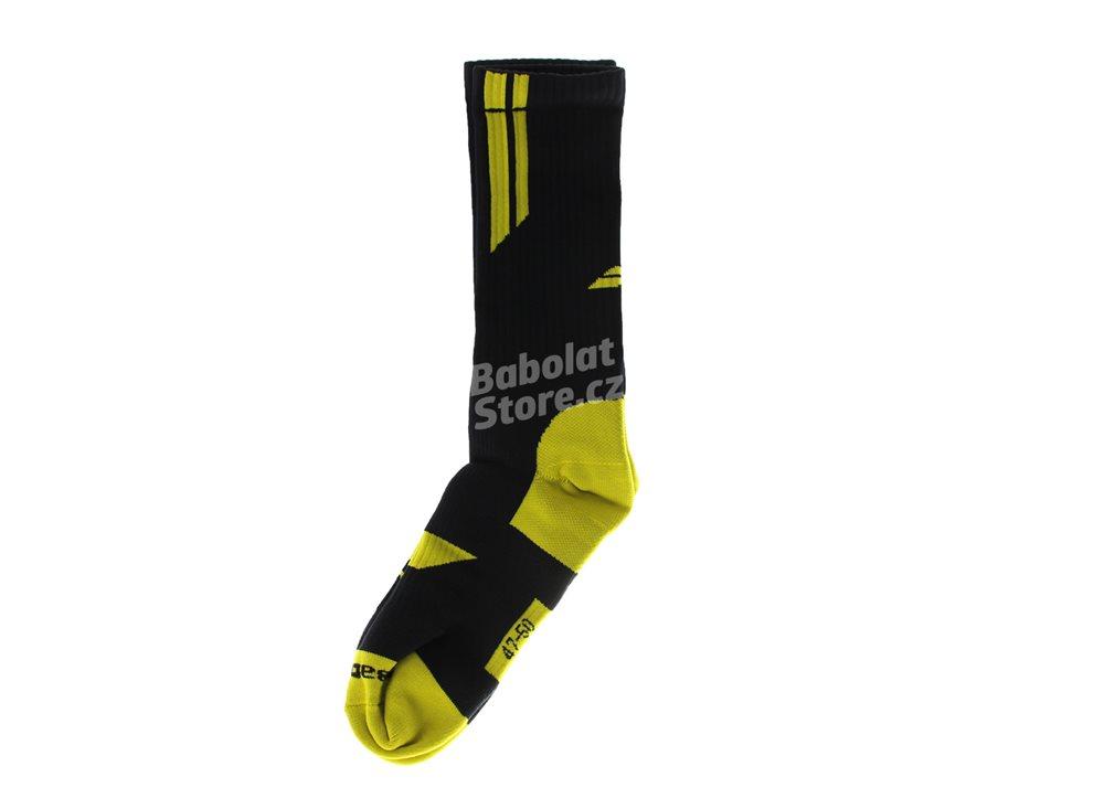 babolat ponožky team big logo blackyellow babolat store