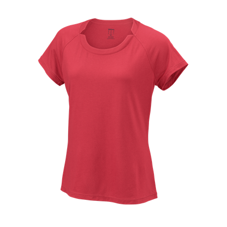 Wilson W Condition Tee Fiery Coral