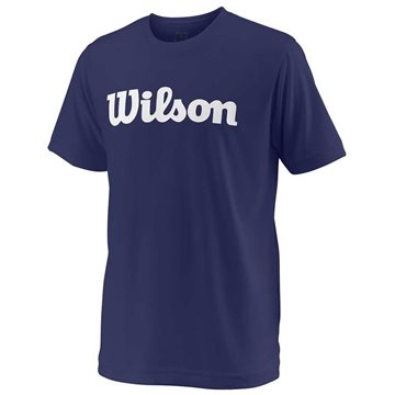 Produkt Wilson Y Team Script Tech Tee Blue Depths/White